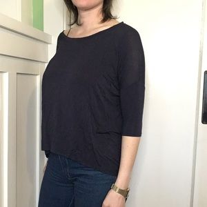 Navy Blue rayon top